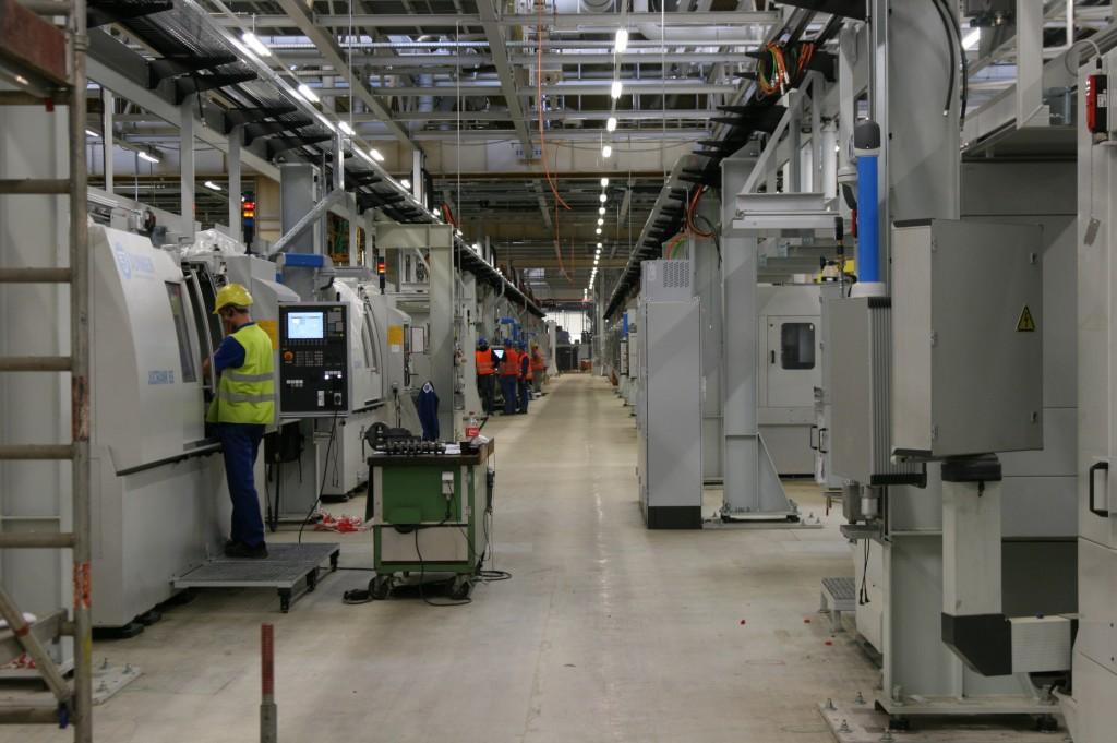 Gyártósor az új Opel motorgyárban