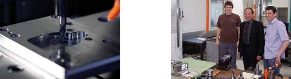 A Mikron HPM 600 HD gép (20 000 f/perc, HSK 63, 39 kW, 84 Nm @ 40% ED, iTNC 530) gondoskodik a relatív nagy forgácsleválasztásról, és akkor használják, ha sok forgácsot kell előállítani.