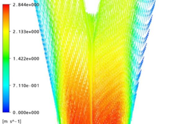 Áramlás szimuláció vektorábra