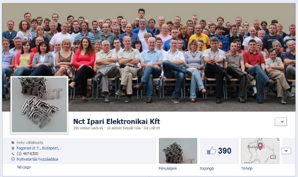 Az NCT Kft. facebook oldala