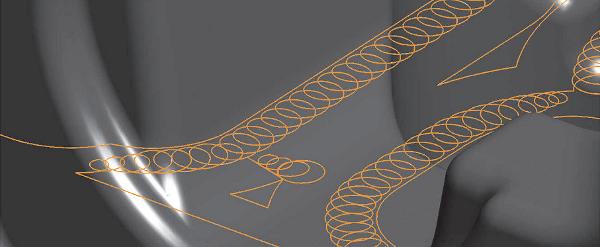 Hornyok trochoid vonalú megmunkálása a teljes átmérővel való megmunkálás elkerüléséhez