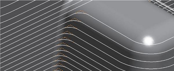 Sarok lekerekítése a szerszámpályán: +hosszabb szerszáméltartam, nagyobb pontosság és felületminőség / –nagyobb maradékanyag-ráhagyás a sarkokon