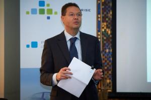 Szacsky Tibor divízió vezető az Enterprise Group Sajtótájékoztatóján