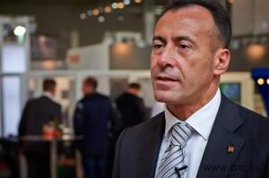 Dr. Gaetano Lo Guzzo, a Yamazaki Mazak európai lézertechnológiai üzletágának igazgatója
