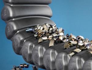A forgácstaszító profilú RX-cső 99%-os tömörséggel zár (IP40 tesztelve - TÜV NORD CERT GmbH)
