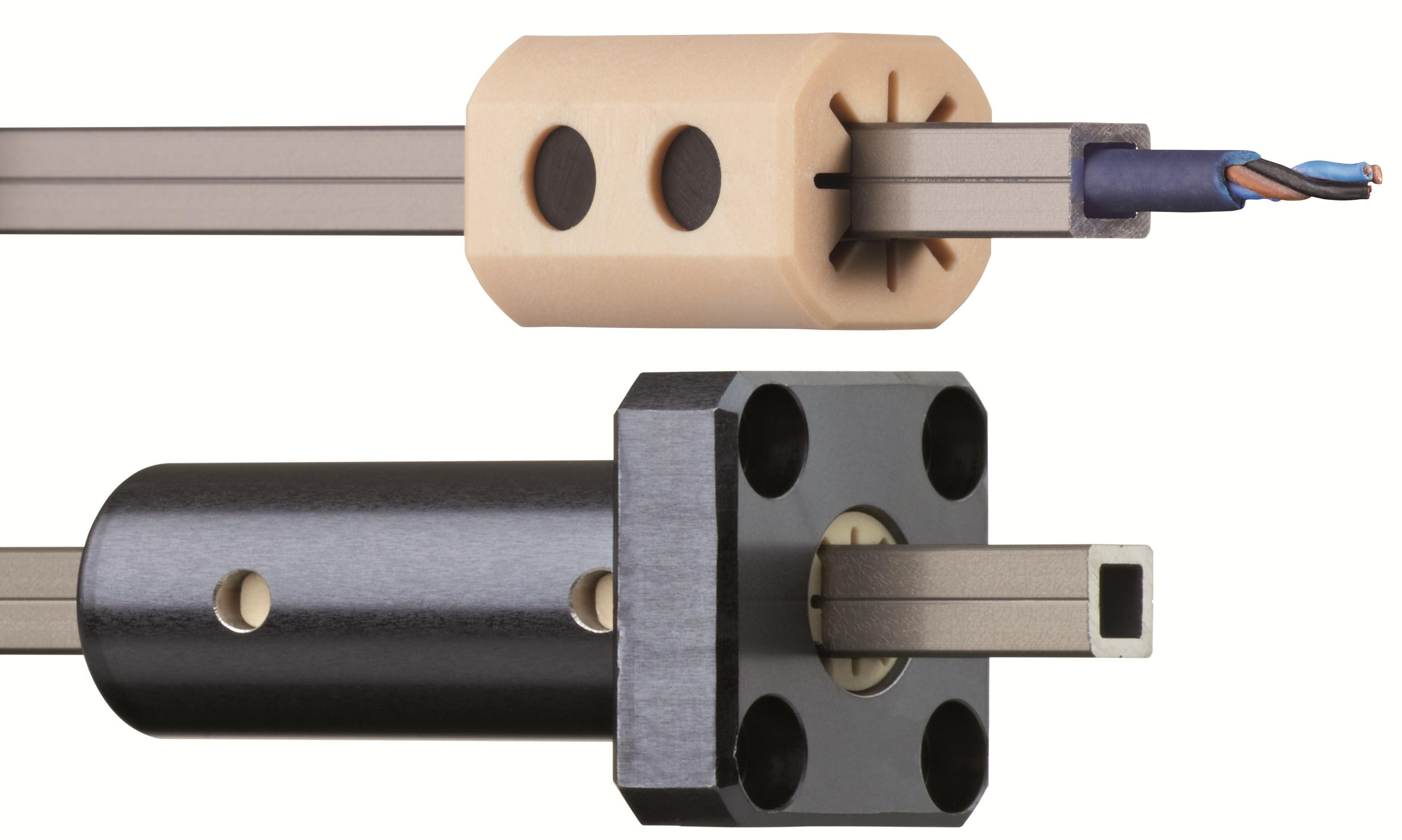 Az új elcsavarodás-biztos és kompakt drylin Q lineáris megvezetési rendszer.