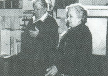 A Lazarenko házaspár látogatóban az AGIE cégnél