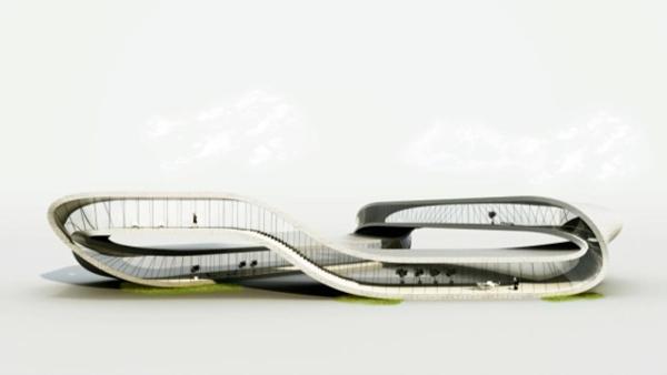 """A """"Landscape House"""" látványtervei"""
