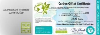 A Gordiusz Alfa weboldala 100%-ban zöld