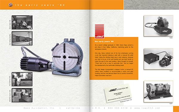 A Haas első automatizált osztófeje 1983-ból