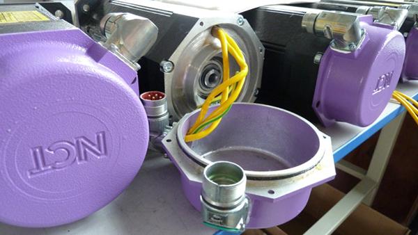 NCT servo motors szerelés