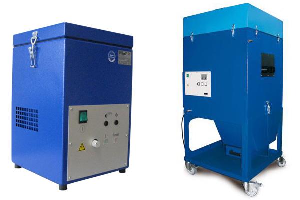 Fuchs KFS (bal) és MKF (jobb) ipari légtechnikai elszívók