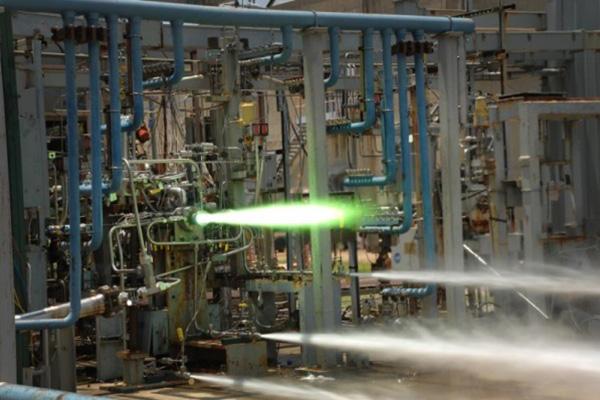 NASA rakétahajtómű teszt összeállítás