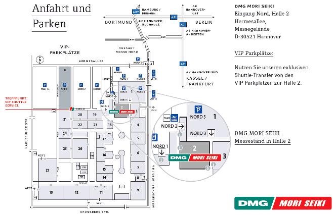 DMG / MORI SEIKI EMO 2013 térkép
