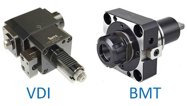 VDI (bal) és BMT (jobb) revolverbefogók