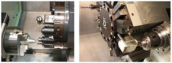A VDI rendszerű befogók elhelyezhetők a revolver palástján és a homlokfelületén is