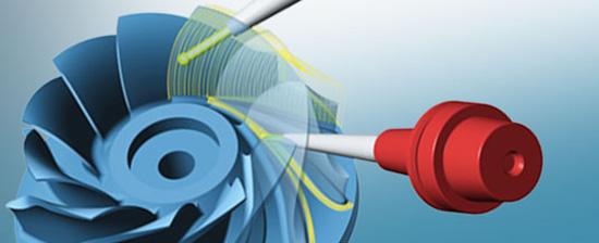 Öttengelyes impeller megmunkáló funkció