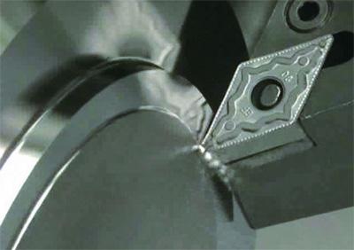 NEF forgácstörő geometriával rendelkező lapka