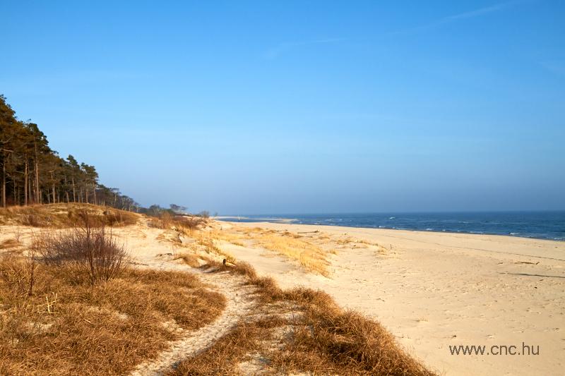 Homokbuckás tengerpart Hammarskjöld házától nem messze