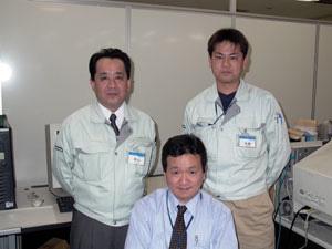 Mr. Motoyama (bal), Mr. Kaneo (közép) és Mr. Yonekura (jobb)