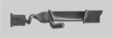"""5. ábra Egykristály-turbinalapát a """"malacfarokkal"""""""