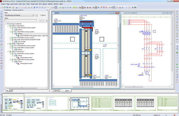 Összevont tervezési folyamat az előzetes tervezéstől a komplett tervkidolgozásig  - a különböző rendszerek áttekintésétől az elektromos kapcsolási rajzig.
