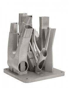 A 3D nyomtatott váz, még darabokban