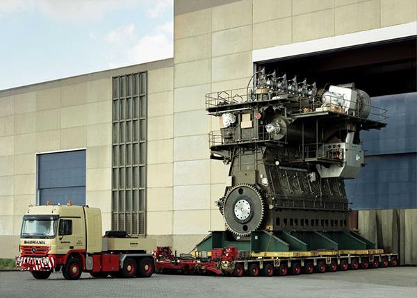 Egy ilyen motor szállítása sem egyszerű feladat