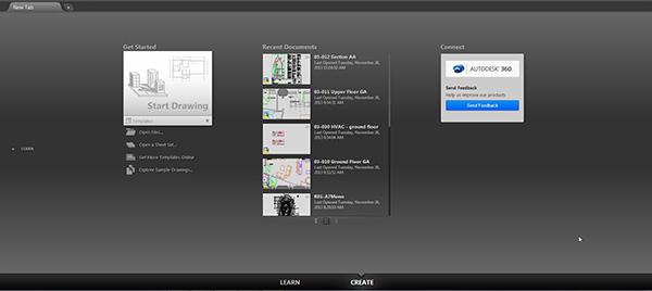 Az új lapfülekkel az AutoCAD 2015 felhasználói gyorsan nyithatnak meg új vagy létező rajzokat és különböző tartalmakhoz férhetnek hozzá, így hamarabb megkezdhetik a munkát.
