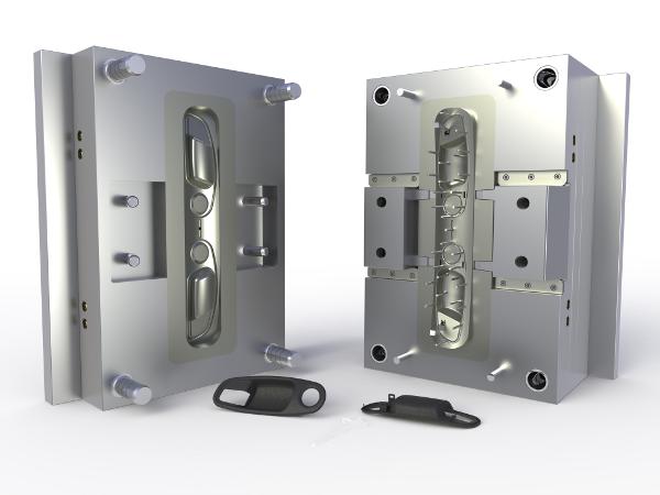 Egy SolidWorksszel tervezett fröccsöntő szerszám és alkatrész