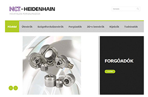 Az NCT hivatalos HEIDENHAIN honlapja