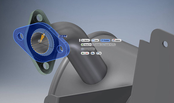 Parametrikus direkt modellezés az Inventor 2015-ben