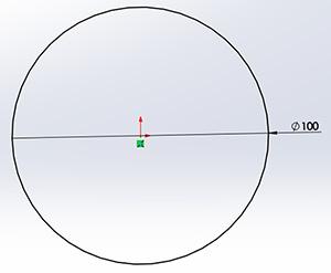 Kiindulási kör megrajzolása