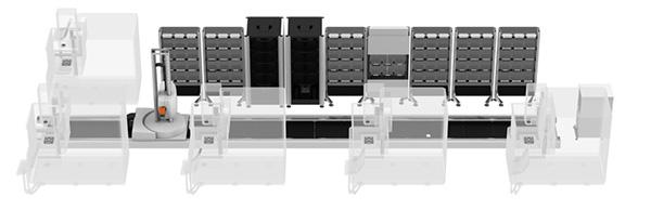Öt gépből álló cella kiszolgálása System 3R TRANSFORMER segítségével