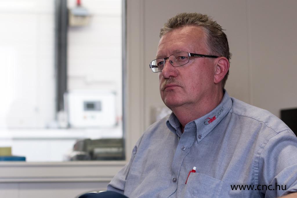 Wim van Dalen, a Timesavers területi értékesítési vezetője