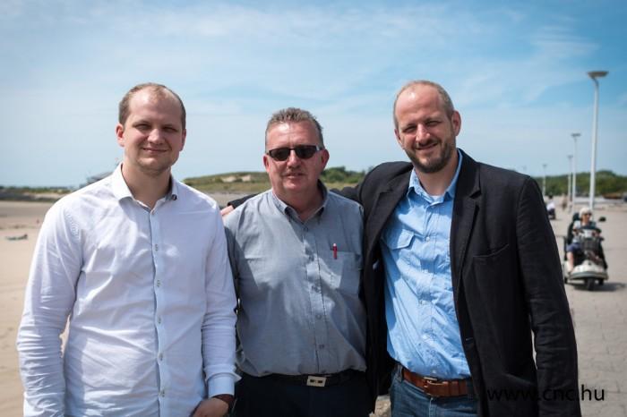 Balról jobbra: Illyés László, Wim van Dalen és Illyés Péter