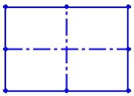 Négyszög rajzolása középpontból kiinduló szerkesztési vonallal