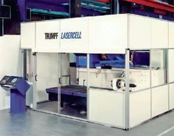 A Trumpf 1985-ben mutatta be az első öttengelyes, CO2-aggregátoros lézergépét: a TCL 5000 modellt