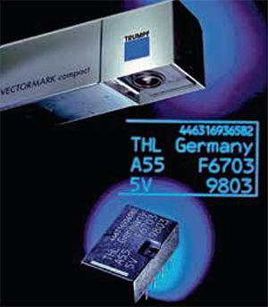 2002-ben vezette be a Trumpf az első ultraibolya hullámhosszon működő feliratozó lézert