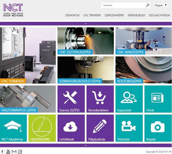 NCT honlapja