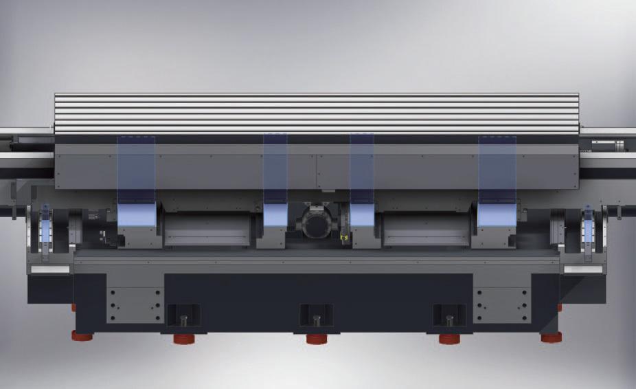 13. ábra: 4 sor csúszóvezeték + 2 sor hengergörgős LM vezeték