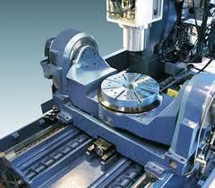 5- tengelyes gép - a forgó-billenő asztal Y- tengely mentén mozog