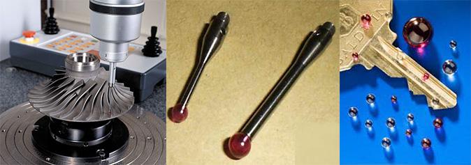 Tapintócsúcsos mérőgépek alkalmazása, tapintó csúcsok