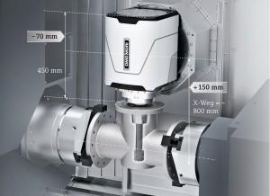 A compactMASTER® eszterga-maró orsó 130 %-kal növelt nyomatékkal dolgozik, így akár 230 Nm-rel és 12000-es fordulatszámmal végezhetünk megmunkálást