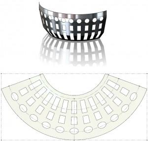 3D-s felület terítése felhasítással