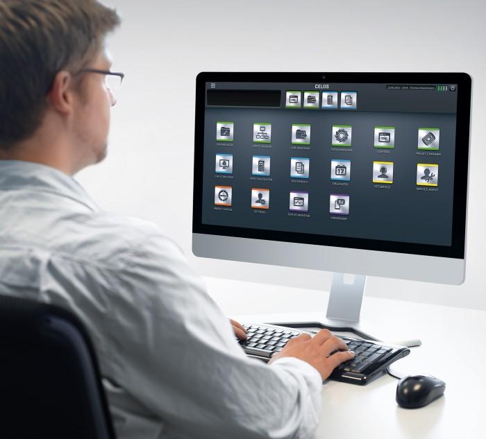CELOS® PC verzió: Az egységes CELOS® felhasználói felületet alkalmazva a szerszámgépen és az irodai számítógépeken az alkalmazottak az üzemben és a gyártásütemezésben kezelhetik, dokumentálhatják és vizualizálhatják a feladatok sorrendjét, folyamatait és a gépek adatait.