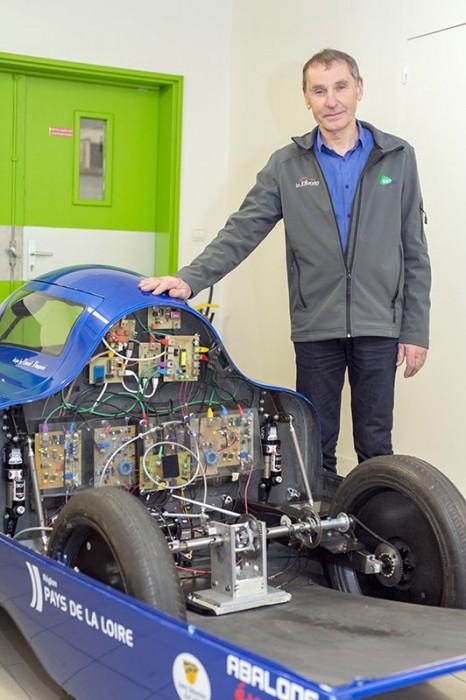 Philippe Maindru és a MicroJoule üzemanyag-hatékony versenyautó