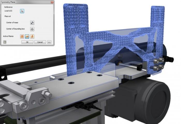 A Shape Generator, az Autodesk Nastran technológiájára épülő integrált tervoptimalizálási eszköz, a hatékony struktúrájú alkatrészek megtervezéséhez nyújt segítséget.
