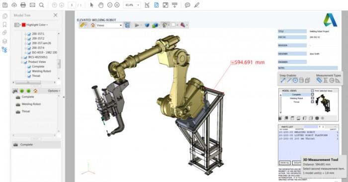 A 3D PDF lehetővé teszi a hagyományos dokumentációk kiegészítését kiváló minőségű, az Adobe Acrobat Readerben megtekinthető 3D tartalmakkal.