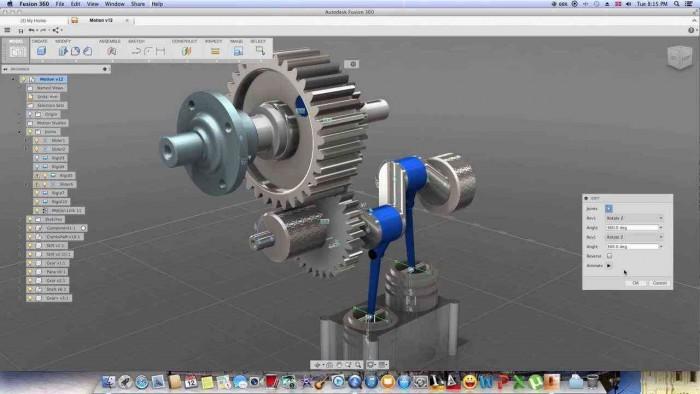 Mozgástanulmány a Fusion 360 programban